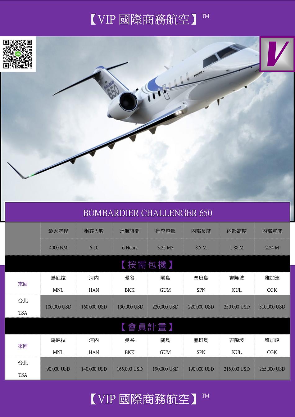VIP GLOBAL BOMBARDIER CHALLENGER 650 DM