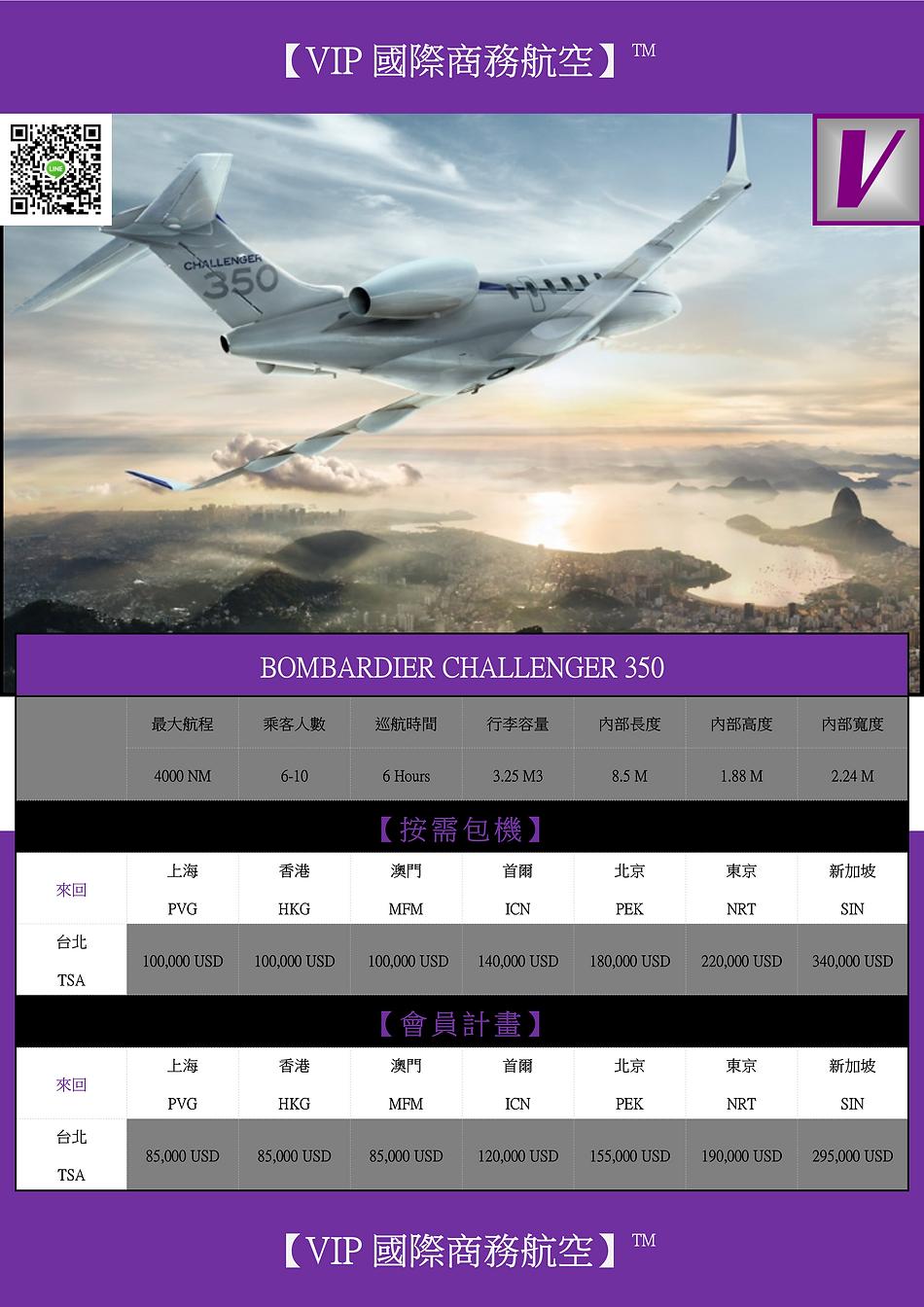 VIP GLOBAL BOMBARDIER CHALLENGER 350 DM