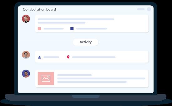 The Vyer platform - Collaboration board