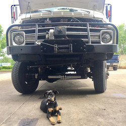 #vananimal #thanksforstoppingby #cumminsswap #shopdogapproved #chinook4x4