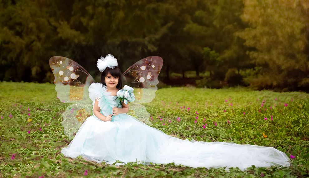 kids photography poses pastel green outdoor princess mini session love florals gown four year old toddler beach green butterfly photoshop