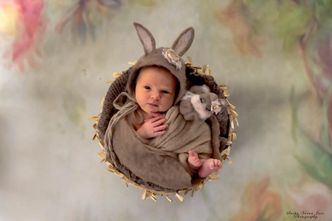 newborn photography chennai baby cute pose portrait bunny brown