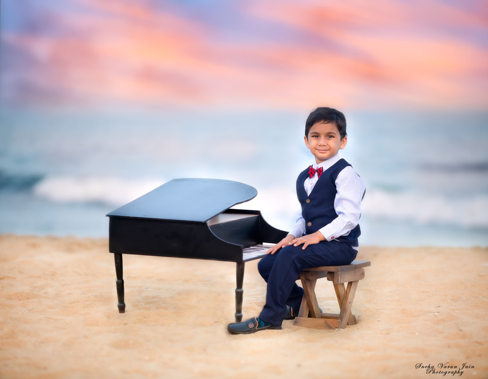 kids photography toddler smile laugh sunset beach boy handsome portrait piano