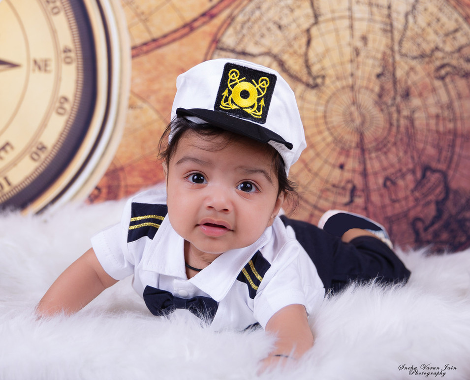 five month baby photography chennai boy cute pilot