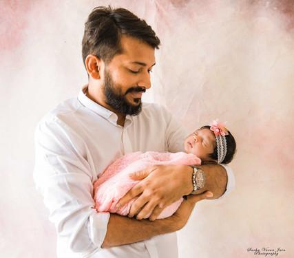 newborn photography chennai baby cute pose portrait dad father girl