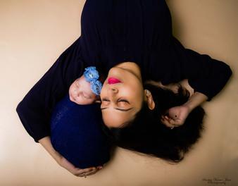 newborn photography chennai baby cute pose portrait mother love floor