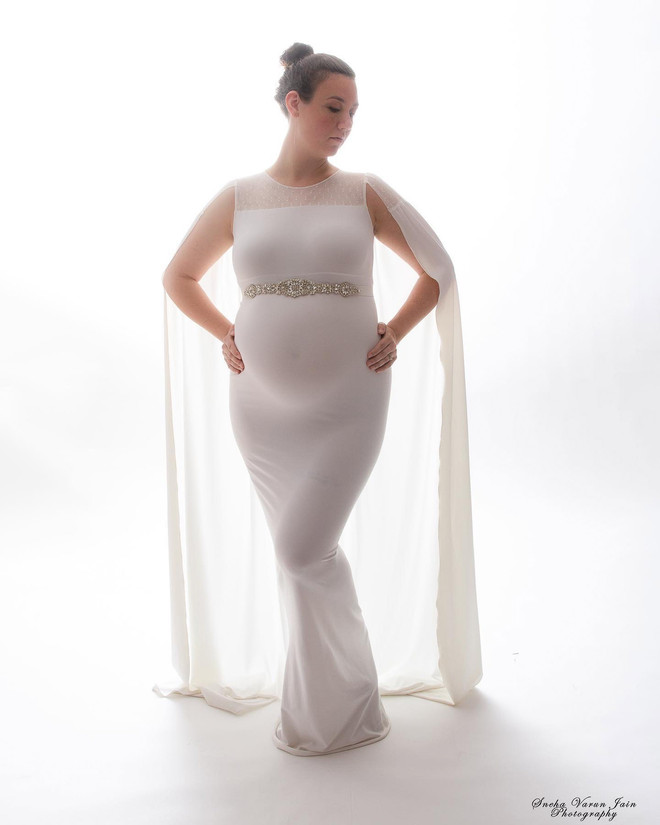 maternity photography pregnancy new mom trimester backlight artistic creative belly white