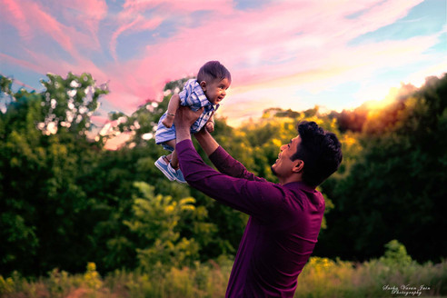 family photography poses outdoor father son sunset