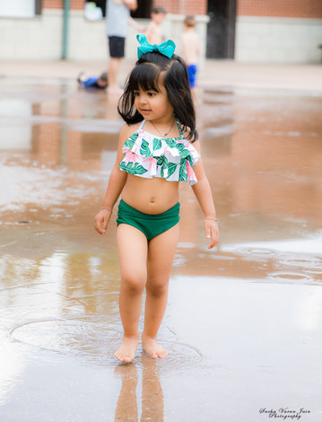 kids photography toddler outdoor swimsuit water park