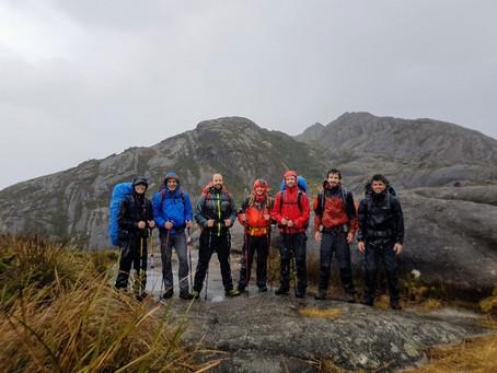 Grupo de sócios do CAP se prepara para expedição ao Tupungato, em janeiro de 2020.
