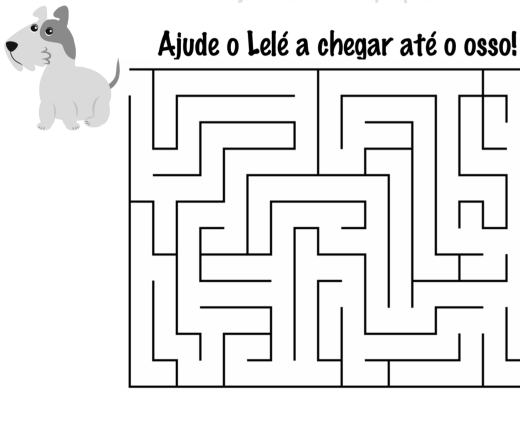 """Labirinto """"Cadê Todo Mundo?"""" Preto e Branco"""