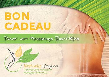 Bon cadeau Massage Nathalie Beghin