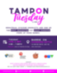 TAMPON TUESDAY - JUNE 04 2019 - BARRIE.j
