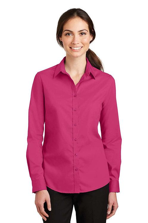 L663 Ladies SuperPro Long Sleeve Twill Shirt