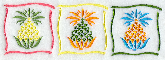 I1348 Pineapple Border