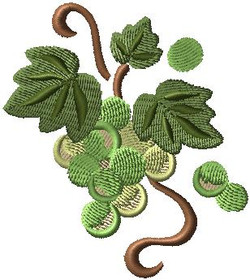 381571 Vintage Green Grapes