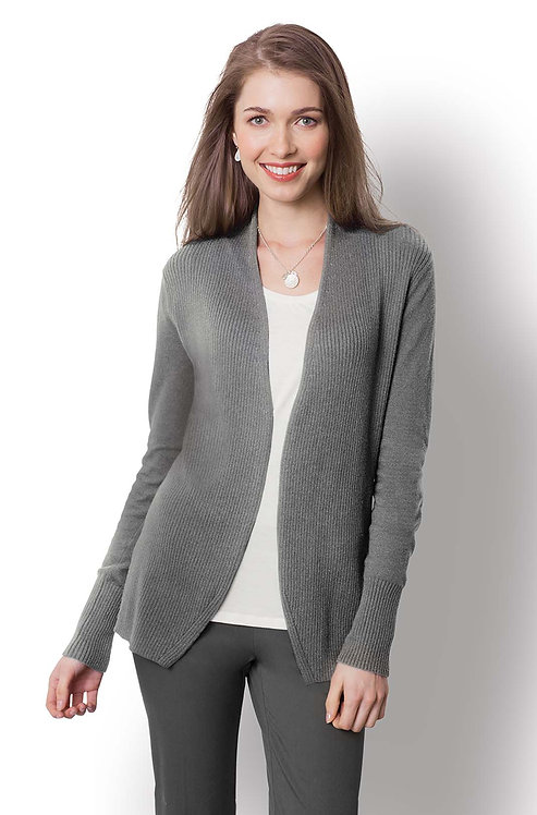LSW289 LadiesOpen Front Cardigan Sweater