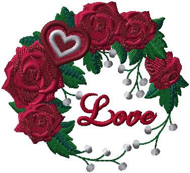 G9091 Love and Roses Wreath