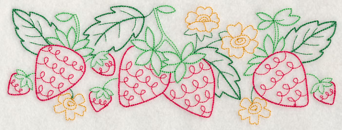 J4443 Strawberry Vintage Border