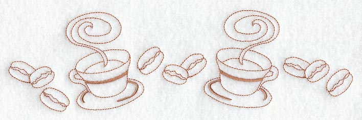 C7370 Cups & Beans Border