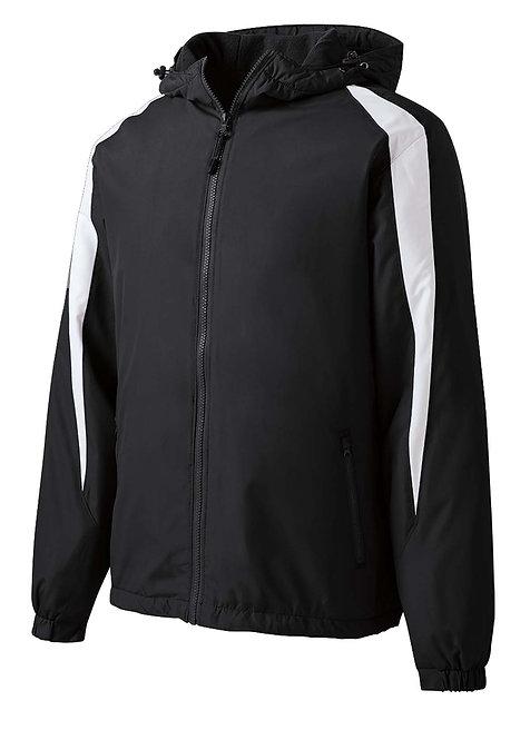 JST81 Fleece-Lined Colorblock Jacket w/Carver Text Logo