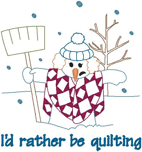 369551 Quilting Snowlady