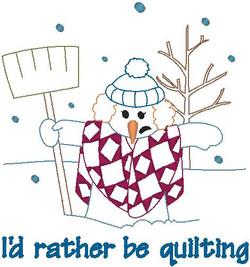 369551 Quilting Snowlady