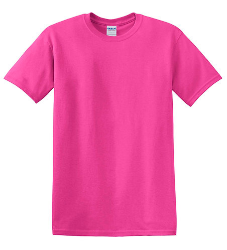 Gildan® - Adult 100% Cotton T-Shirt - Heliconia Pink