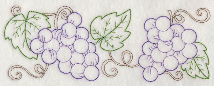 J4413 Grape Vine Border