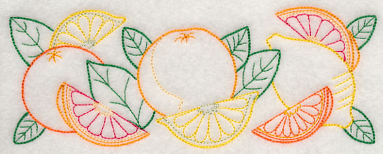 J4574 Citrus Fruit Border