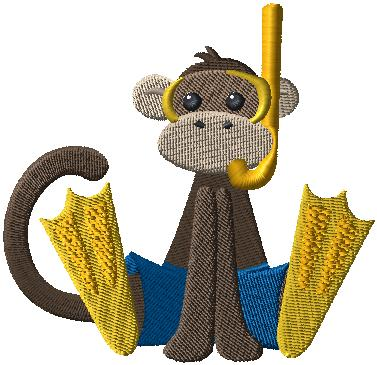 D4895 Monkey at the Beach