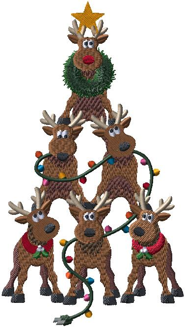 198751 Small Reindeer Stack