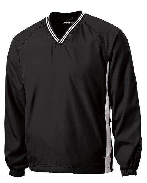 JST62 Tipped V-Neck Raglan Wind Shirt w/Wolverine Logo