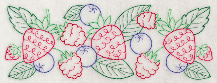 J4583 Mixed Berry Border