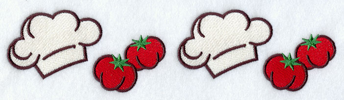 D6133 Chef Hat & Tomato Border