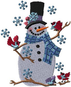 F8047 Small Snowman & Friends