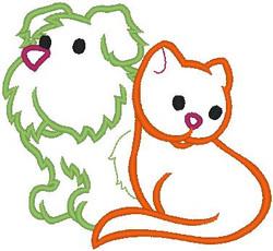 c3938 Happy Dog and Cat