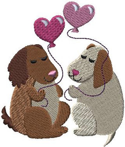 f8594 Love is in the air dogs