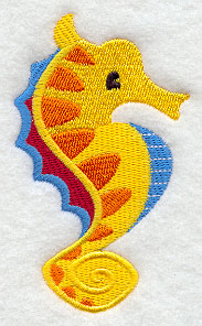 E4827 Deep Blue Sea Seahorse