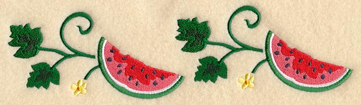 C8121 Watermelon & Vine Border