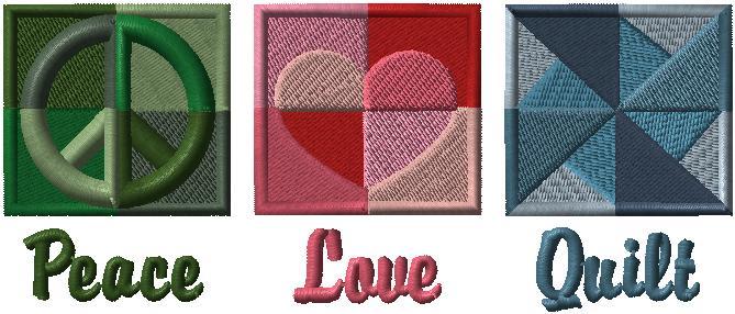 D7466 Love Peace Quilt