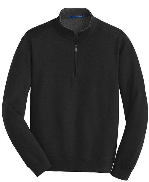K807 Interlock 1/4-Zip Pullover w/Carver Text Logo