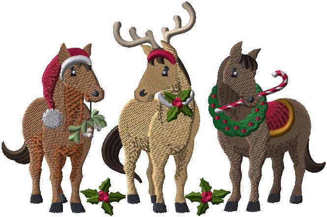 G8000 Christmas Horses