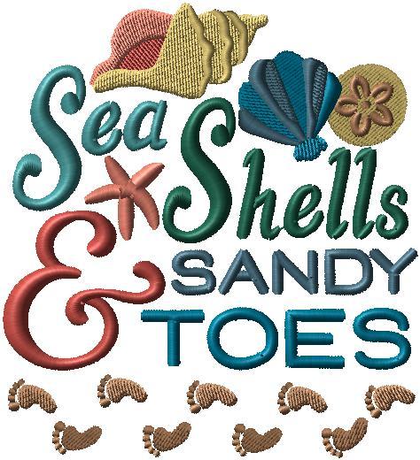 Seashells and Toes Pillows