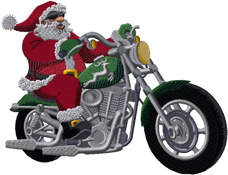 H8866b Motorcycle Santa