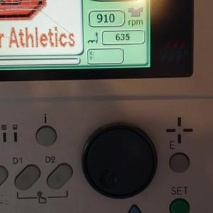 Running Embroidery Machine