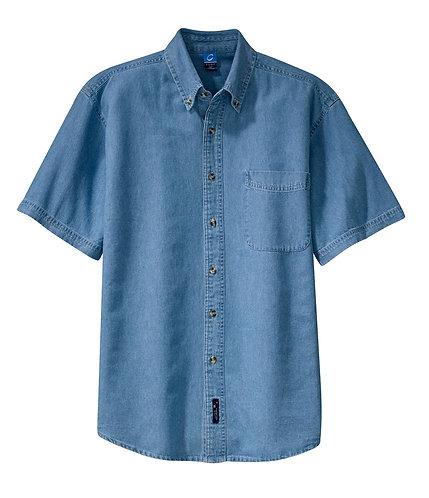 SP11 Port & Company Adult Short Sleeve Denim