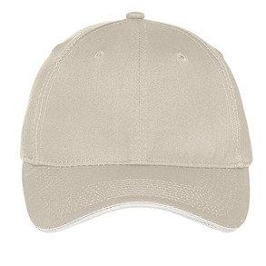 C919LSB Cotton Twill Hat w/White Sandwich Bill