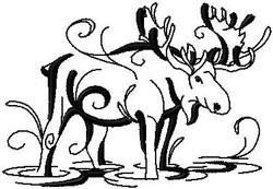 l6937 Ink Water Moose