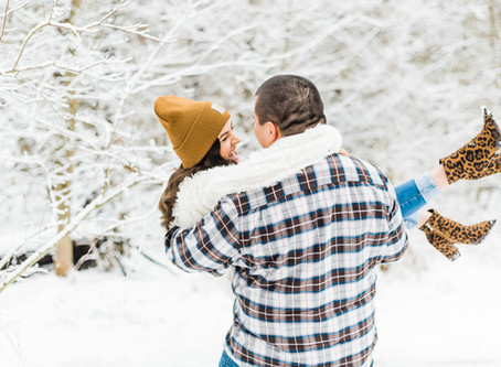 Snowy Midwest Engagement Session | Taryn + Bubba